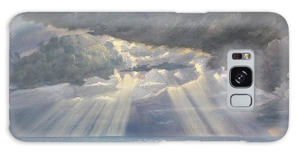 Galaxy Case featuring the painting Storm Subsides by Rosario Piazza