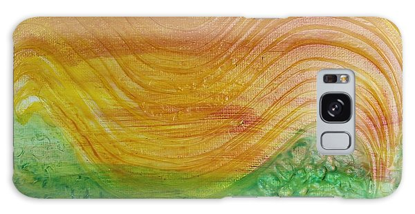 Sun And Grass In Harmony Galaxy Case