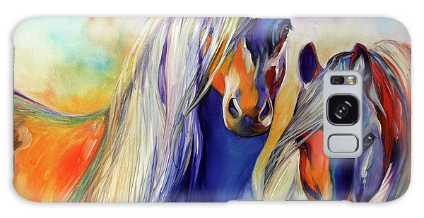 Sun And Shadow Equine Abstract Galaxy Case