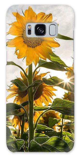 Sun And Sunflowers Galaxy Case