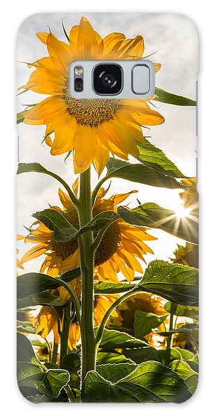 Sun And Sunflowers Galaxy Case