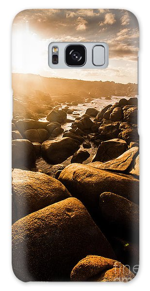 Stone Wall Galaxy Case - Sun Bleached Australia Beach by Jorgo Photography - Wall Art Gallery
