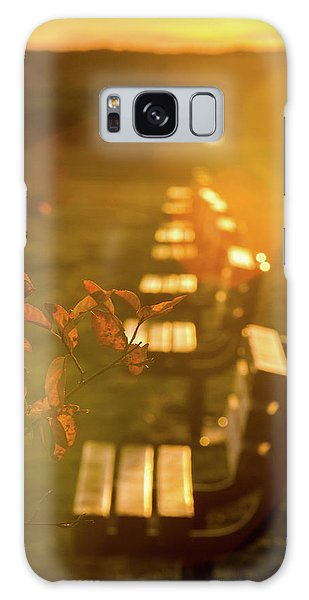 Sun Drenched Bench Galaxy Case