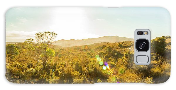 Pasture Galaxy Case - Sun Flare Prairie  by Jorgo Photography - Wall Art Gallery