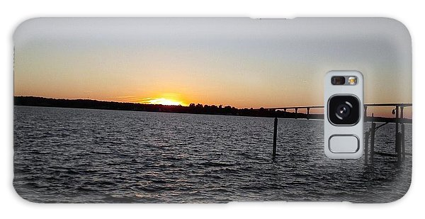 Sun Going Down Near Gov Thomas Johnson Bridge Galaxy Case