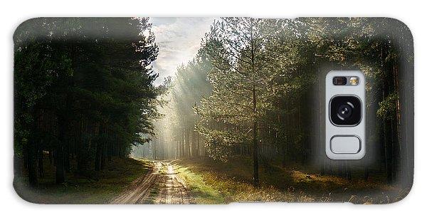 Sun Light At Pine Forest Galaxy Case
