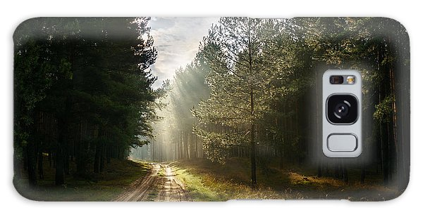 Sun Light At Pine Forest Galaxy Case