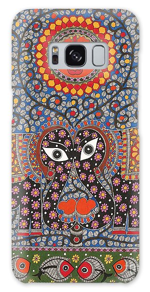 Madhubani Galaxy Case - Sun  by Neeraj kr Jha