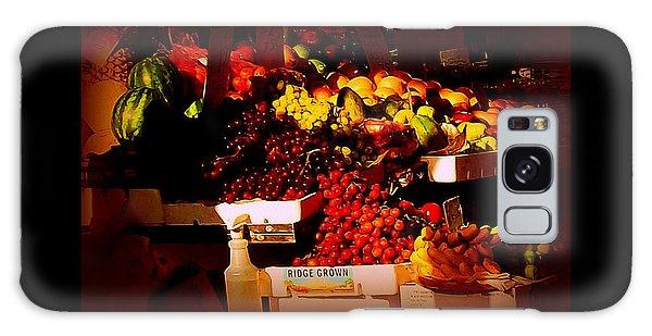 Sun On Fruit - Markets And Street Vendors Of New York City Galaxy Case by Miriam Danar