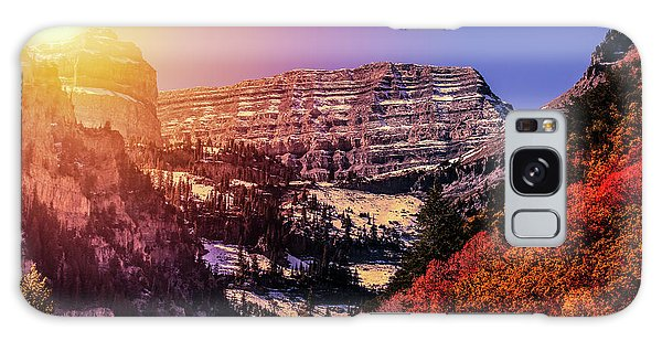 Sun On The Mountain Galaxy Case