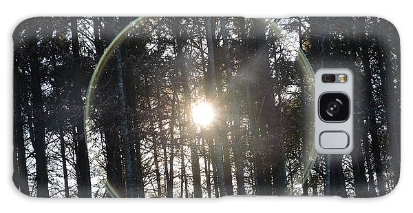 Sun Or Lens Flare In Between The Woods -georgia Galaxy Case