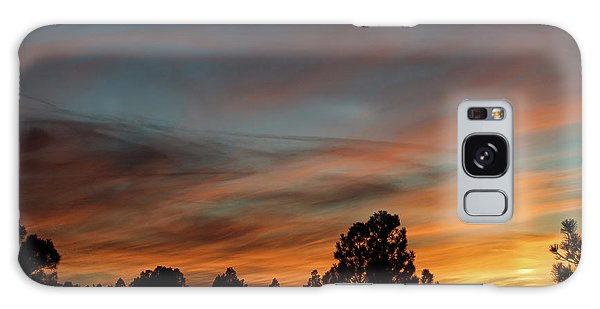 Sun Pillar Sunset Galaxy Case