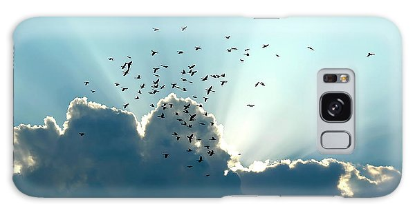 Galaxy Case featuring the photograph Sun Ray Aerobatics Blue Sky by Carolyn Marshall