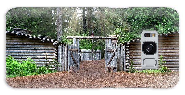 Galaxy Case - Sun Rays Over Fort Clatsop by David Gn
