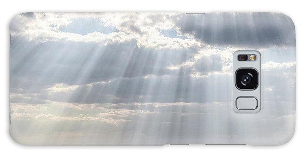Sun Rays Over Lagoon Galaxy Case