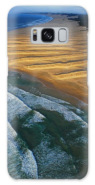Sand Dunes Galaxy Case - Sun Rise Coast  by Skip Hunt
