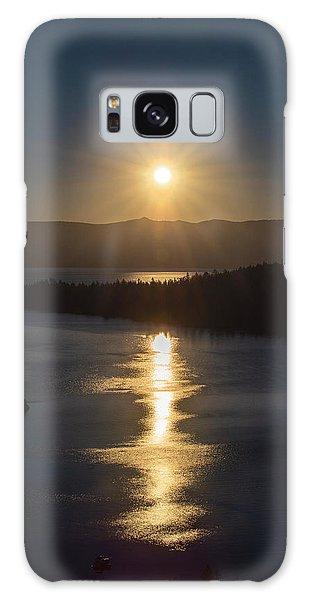 Sun Rising Over Lake Tahoe Galaxy Case