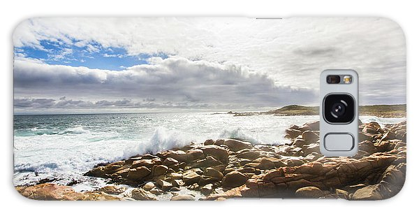 Tides Galaxy Case - Sun Rising Over The Ocean by Jorgo Photography - Wall Art Gallery