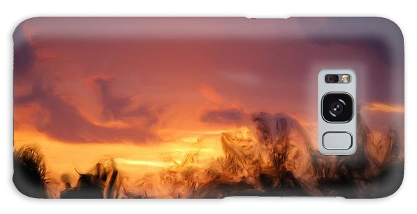 Sun Set Galaxy Case by Jan Daniels