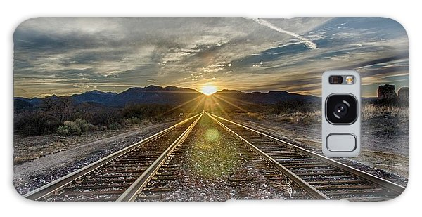 Sun Sets At The End Of The Line Galaxy Case