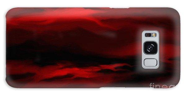 Sun Sets In Red Galaxy Case by Rushan Ruzaick
