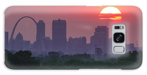 Sun Setting Over St Louis Galaxy Case by Garry McMichael