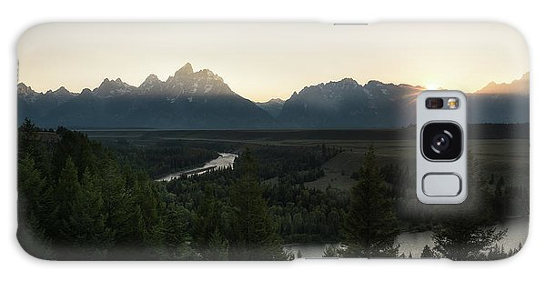 Teton Range Galaxy Case - Sun Setting Over The Teton Range by James Udall