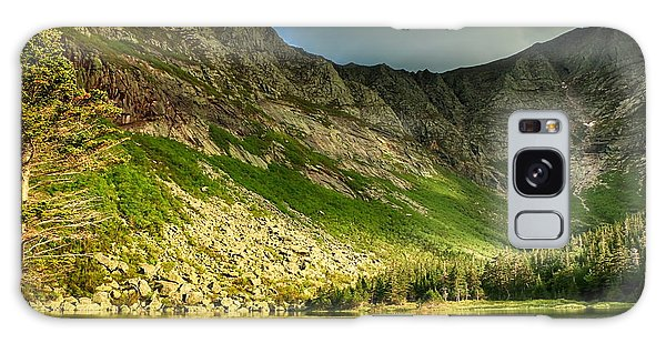 Sun Shining On Chimney Pond  Galaxy Case