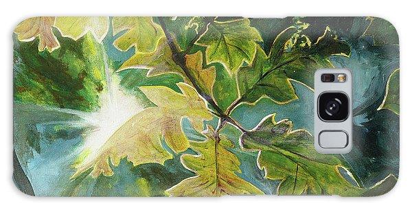 Sun Through Oak Leaves Galaxy Case