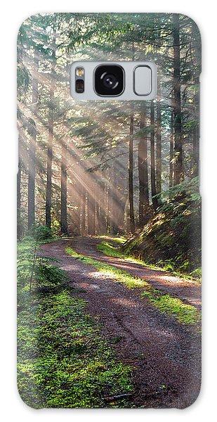 Sunbeam In Trees Portrait Galaxy Case