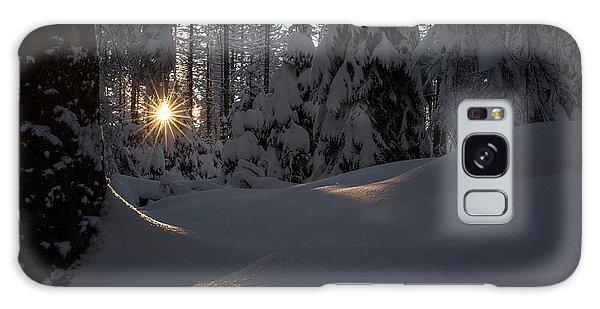 Sunburst In Winter Fairytale Forest Harz Galaxy Case