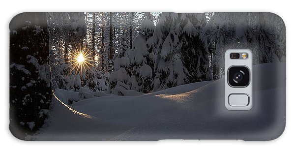 Sunburst In Winter Fairytale Forest Harz Galaxy Case by Andreas Levi