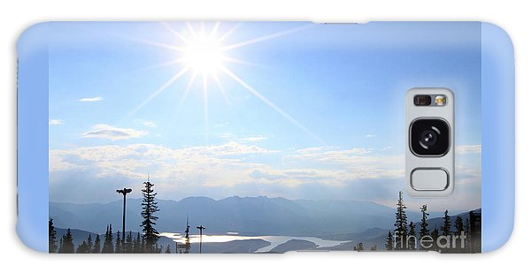 Sunburst Over Lake Dillon Galaxy Case