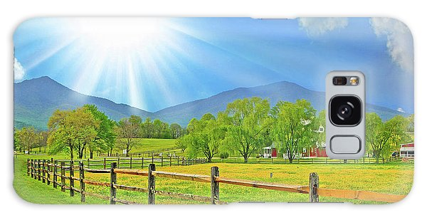Sunburst Over Peaks Of Otter, Virginia Galaxy Case by The American Shutterbug Society