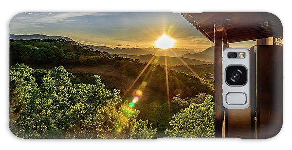 Sunburst View From Dellas Boutique Hotel Near Meteora In Kastraki, Kalambaka, Greece Galaxy Case