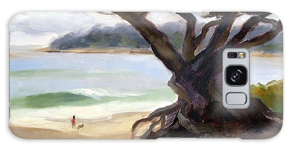 Monterey Galaxy Case - Sunday Afternoon Carmel Beach by Karin  Leonard