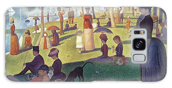 Parasol Galaxy Case - Sunday Afternoon On The Island Of La Grande Jatte by Georges Pierre Seurat