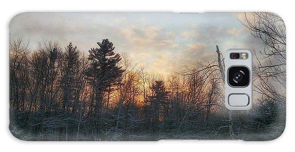 Sundown Winter New England Galaxy Case