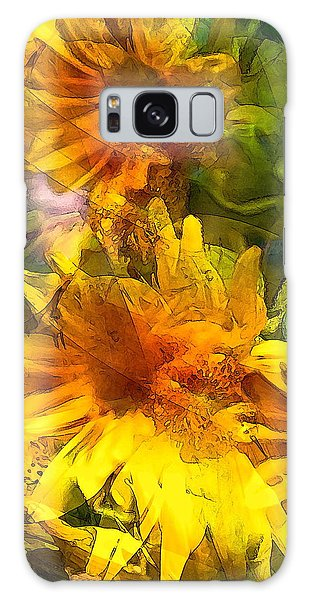 Sunflower 6 Galaxy Case by Pamela Cooper