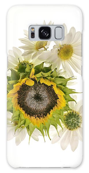 Sunflower And Daisies Galaxy Case by Roman Kurywczak