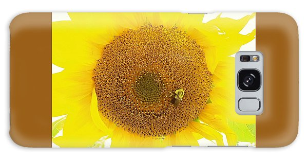 Sunflower And The Happy Bee Galaxy Case