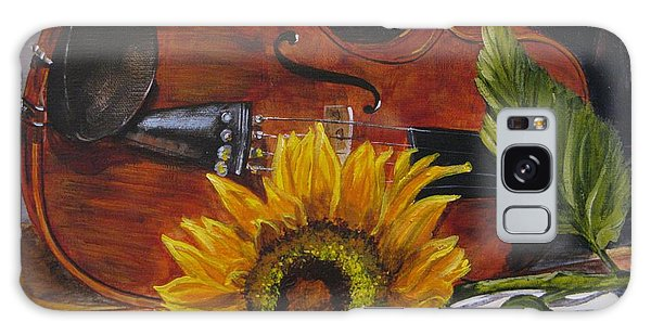 Sunflower And Violin Galaxy Case