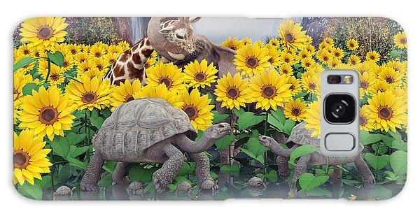 Turtle Galaxy Case - Sunflower Daydream  by Betsy Knapp