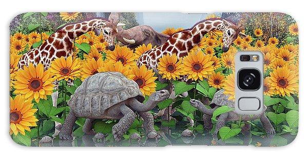 Turtle Galaxy Case - Sunflower Daydream II by Betsy Knapp