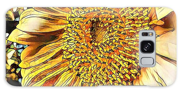 Sunflower In The Alley Galaxy Case