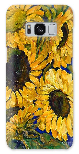 Sunflower Faces Galaxy Case