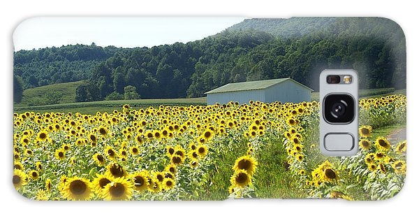 Sunflower Field Galaxy Case by Annlynn Ward