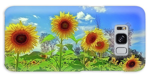 Sunflower Field Galaxy Case by Rodney Campbell
