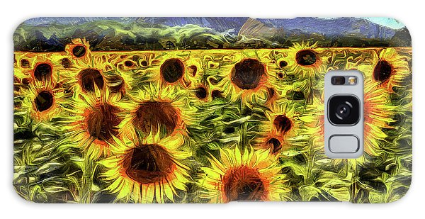 Sunflower Field Van Gogh Galaxy Case