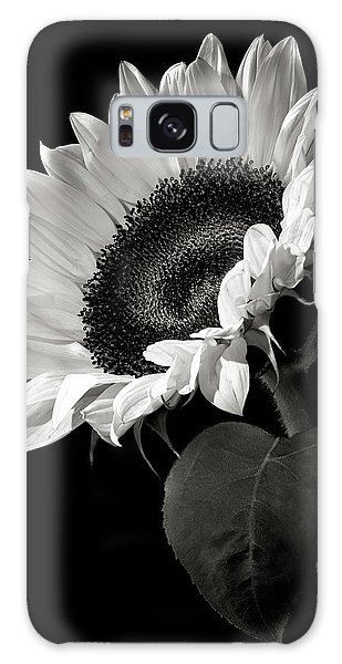 Sunflower In Black And White Galaxy Case by Endre Balogh